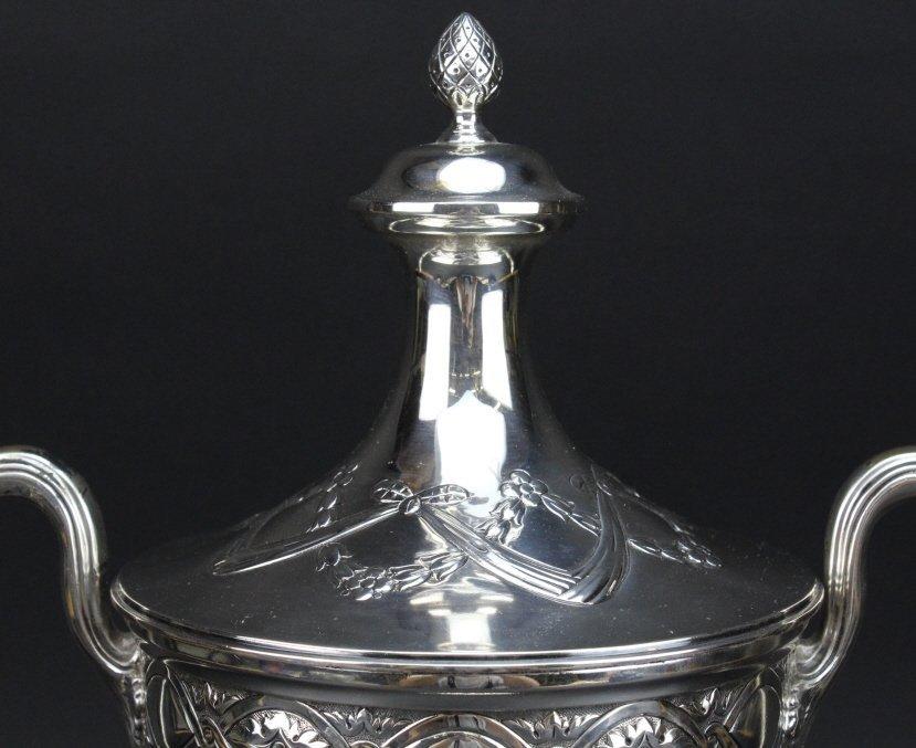 Antique Sterling Silver Belle Epoque Trophy Urn 1587g - 5