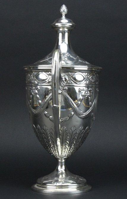 Antique Sterling Silver Belle Epoque Trophy Urn 1587g - 6