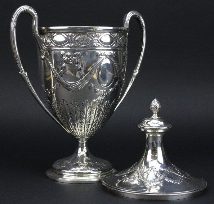 Antique Sterling Silver Belle Epoque Trophy Urn 1587g - 7