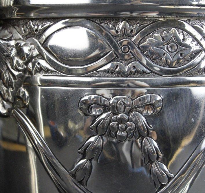 Antique Sterling Silver Belle Epoque Trophy Urn 1587g - 8