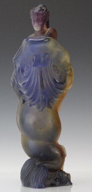 "DAUM Pate de Verre French Art Glass Mythology 12"" Ewer - 3"