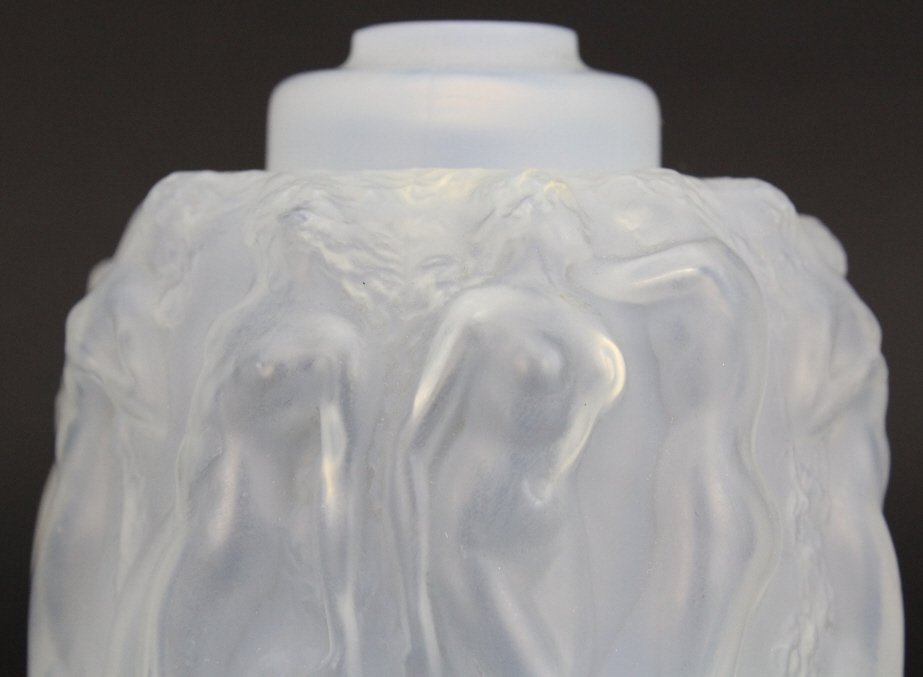 R. LALIQUE French Art Glass Sirenes Perfume Burner - 2
