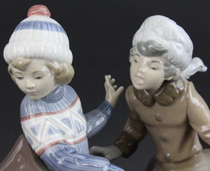 Retired LLADRO Dog Sled Sleigh Porcelain Figurine - 5