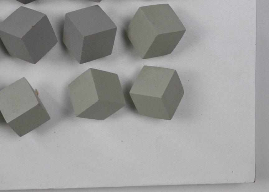 "Cicero Silva Grey Cube Art Modernist 39"" Sculpture - 2"