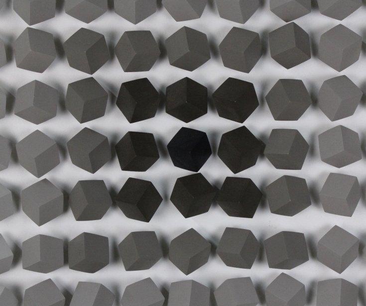 "Cicero Silva Grey Cube Art Modernist 39"" Sculpture - 3"