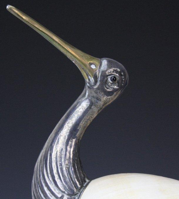 Binazzo Foresto Italian Bird w Shell Modern Statue - 2
