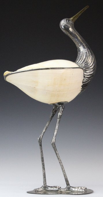 Binazzo Foresto Italian Bird w Shell Modern Statue - 7