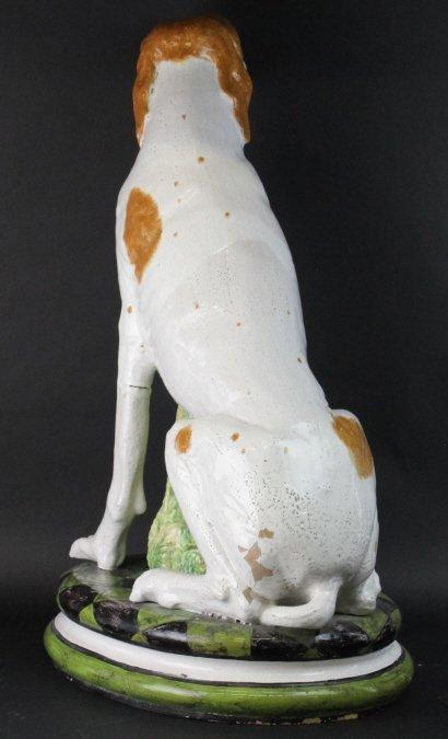 "STUNNING Italian Majolica Pottery 37"" Dog Statue - 7"