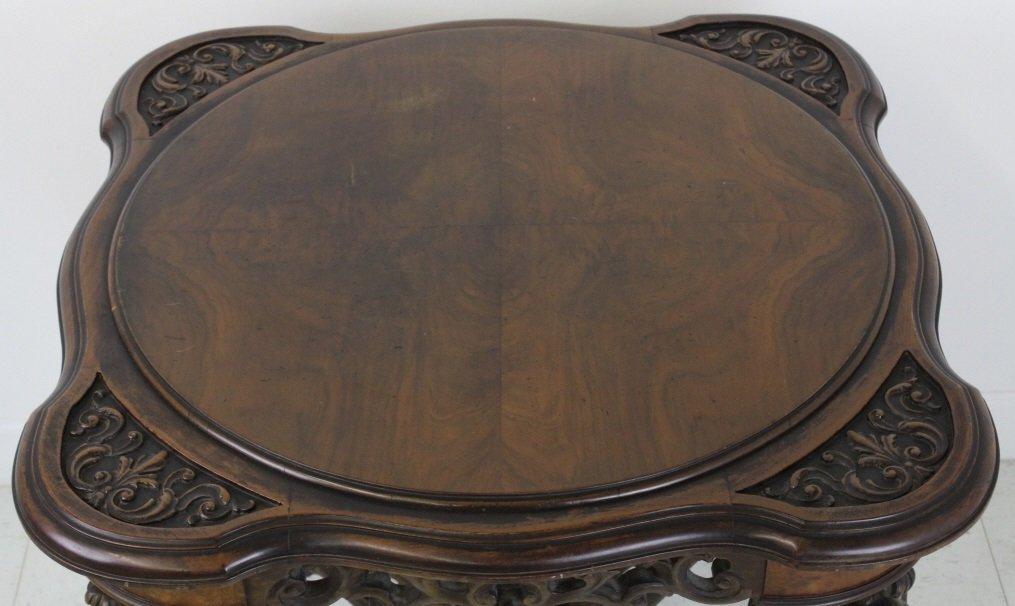 Rare Ziegfeld Follies Era Carved Wood Center Table - 2