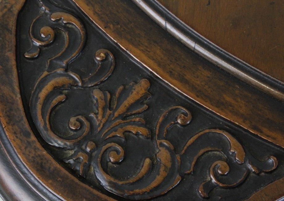 Rare Ziegfeld Follies Era Carved Wood Center Table - 3