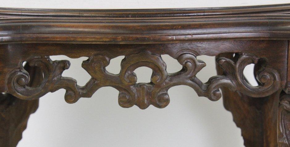Rare Ziegfeld Follies Era Carved Wood Center Table - 5