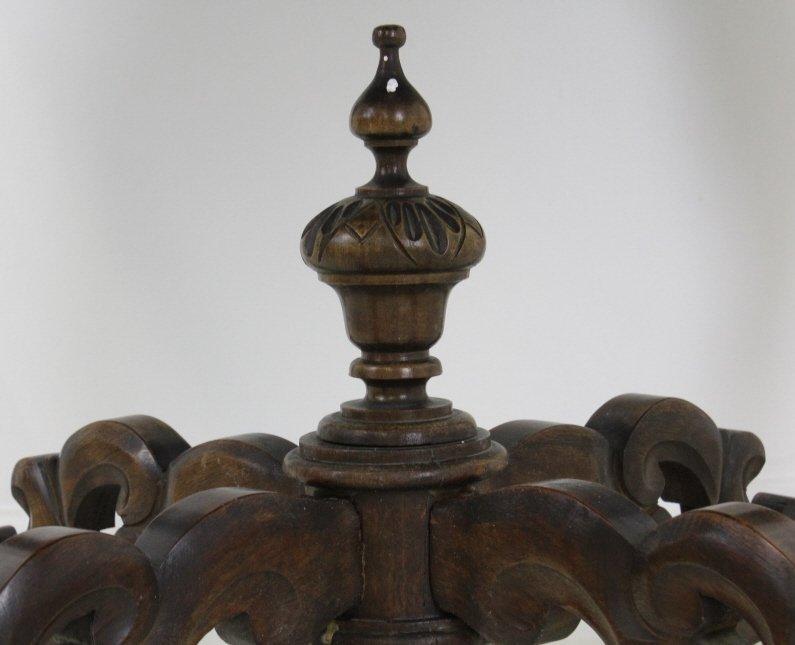 Rare Ziegfeld Follies Era Carved Wood Center Table - 6