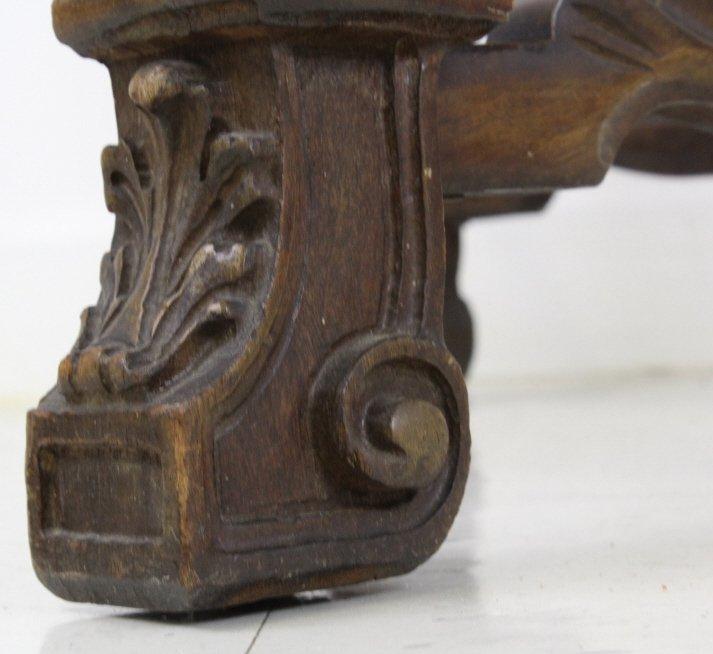 Rare Ziegfeld Follies Era Carved Wood Center Table - 7