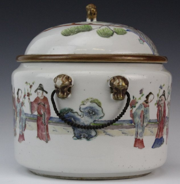 Chinese Porcelain Famille Rose Soup Tureen w Liner - 3