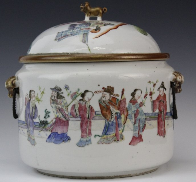 Chinese Porcelain Famille Rose Soup Tureen w Liner - 4