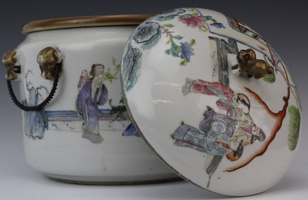 Chinese Porcelain Famille Rose Soup Tureen w Liner - 6