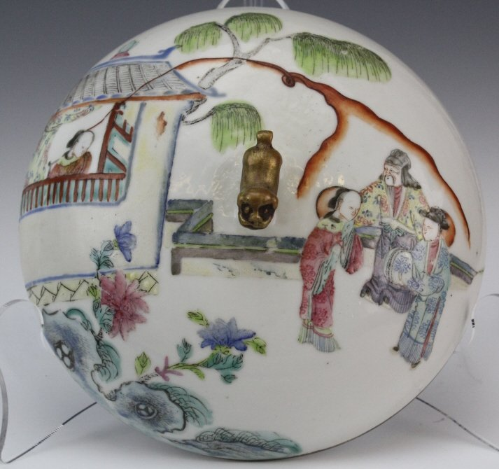 Chinese Porcelain Famille Rose Soup Tureen w Liner - 9