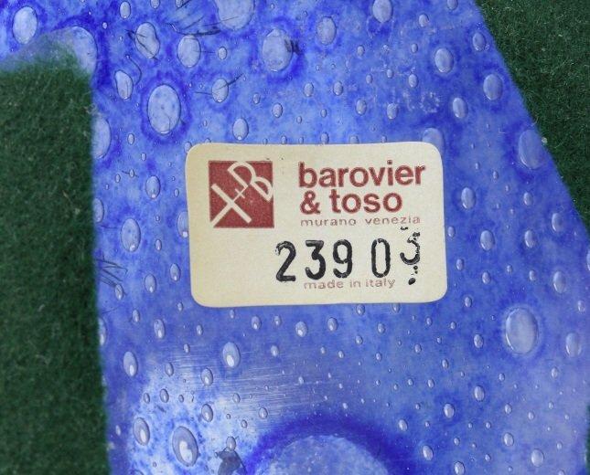 Signed Murano Barovier Toso Blue Efeso Glass Vase - 8