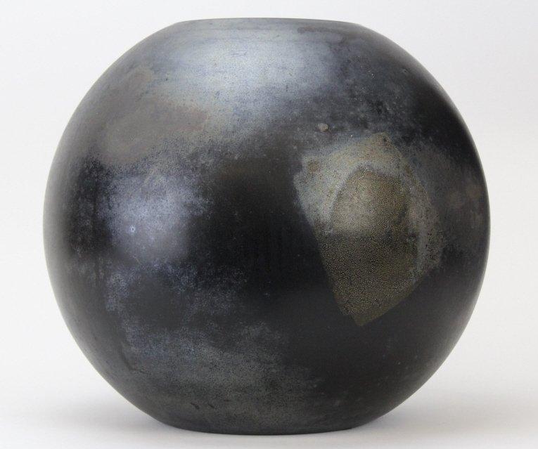 "LARGE Signed CENEDESE Murano 14"" Art Glass Black Vase"