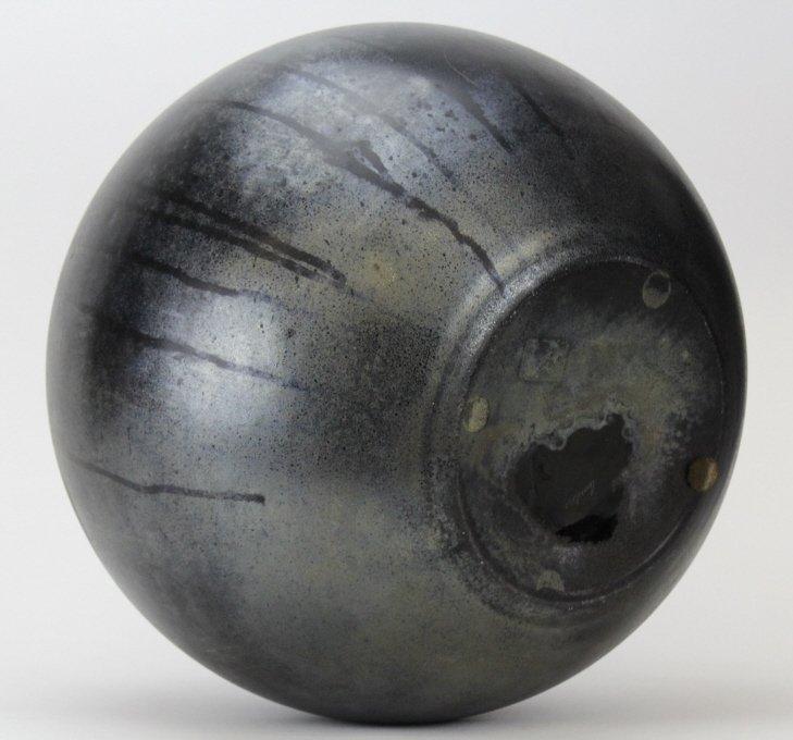 "LARGE Signed CENEDESE Murano 14"" Art Glass Black Vase - 6"