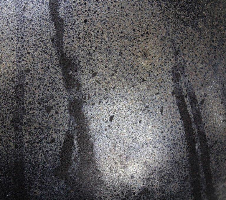 "LARGE Signed CENEDESE Murano 14"" Art Glass Black Vase - 9"