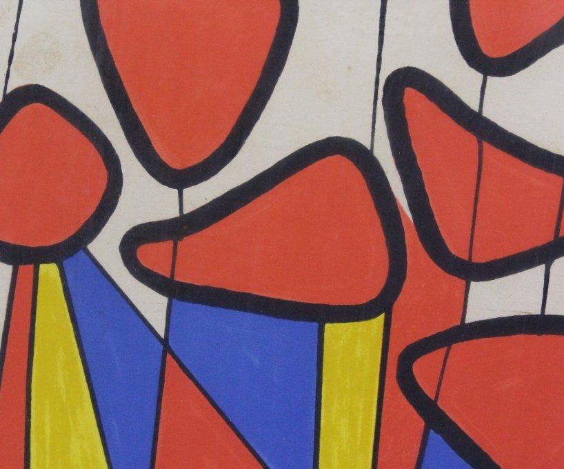 Pencil Signed Alexander CALDER L/E Screen Print - 3