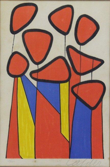 Pencil Signed Alexander CALDER L/E Screen Print - 4