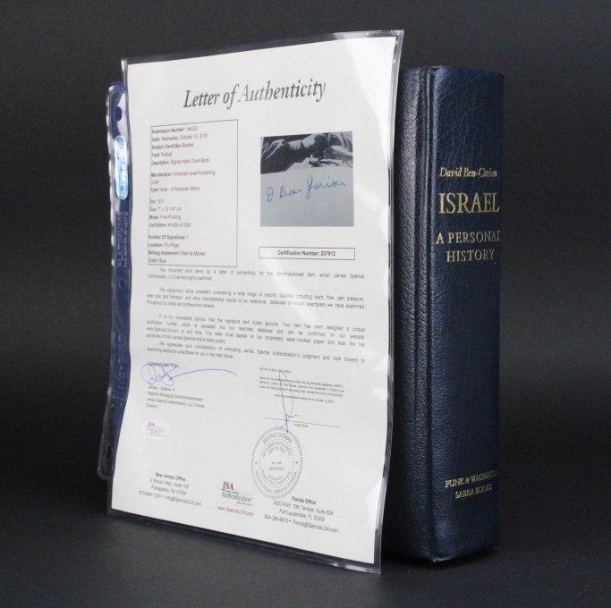 RARE Signed David Ben-Gurion Israel History Book w/ COA