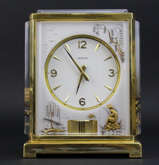 RARE LeCoultre Asian Chinoiserie Atmos Mantle Clock