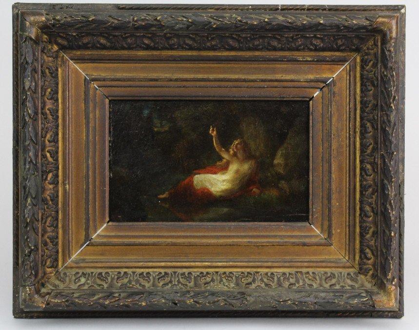 Henri Fantin Latour Figural Landscape 5x8 Oil Painting