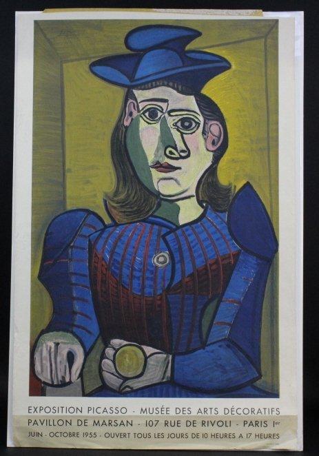After Pablo Picasso Paris '55 Exposition Poster Mourlot