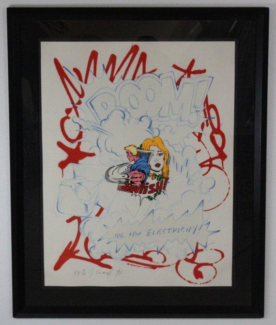 SIGNED John CRASH Matos Raw Electricity Pop Art Print