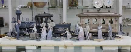 RARE Lladro A Grand Adventure Train Porcelain Figurine