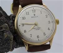 Vintage Mens ROLEX 18k Gold Precision Wind Wrist Watch