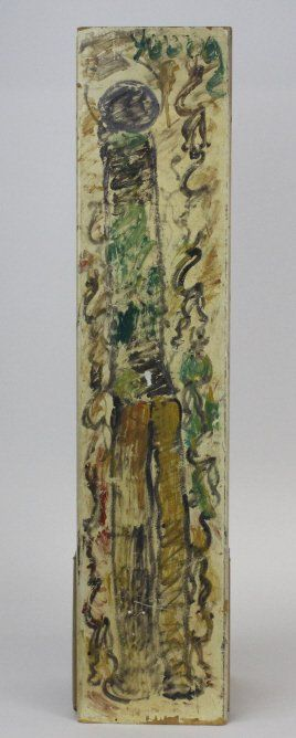 Signed Purvis Young Angel Outsider Folk Art Painting