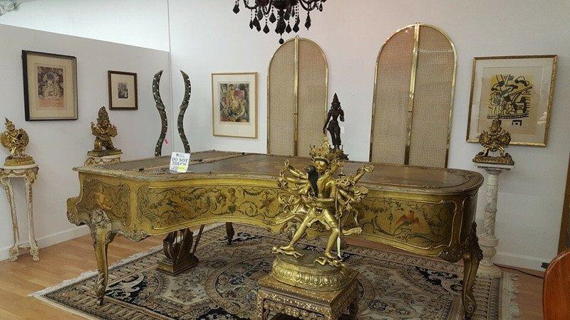 Scenic Decor Antique Steinway Grand Concert Piano D-274
