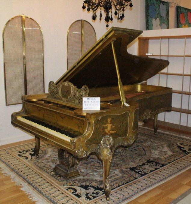 Scenic Decor Antique Steinway Grand Concert Piano D-274 - 2