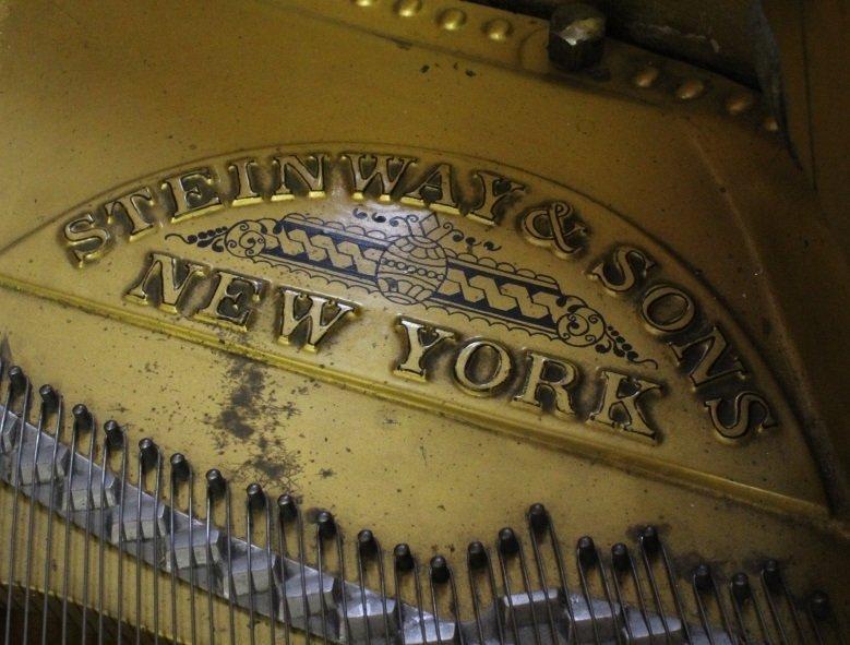 Scenic Decor Antique Steinway Grand Concert Piano D-274 - 5