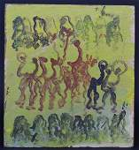 Purvis Young Spirit Dancers Outsider Folk Art Painting