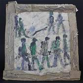 Purvis Young Army Men Parade Outsider Folk Art Painting