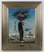Signed Williams Carmona Cuban Surrealist Oil Painting