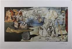 Signed Salvador Dali Surrealist Lands LE SN Litho Print