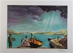 Signed Salvador Dali WATERSIDE SN LE Litho Print