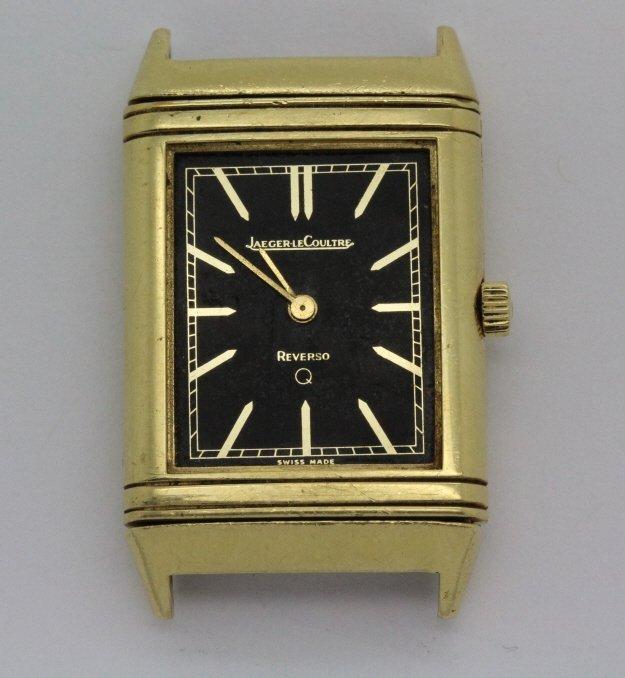 Vintage 18k Gold LeCoultre Reverso Wrist Watch