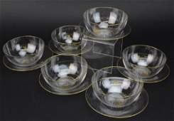 Set 6 Le Rosey French Crystal Bowls & Under Plates