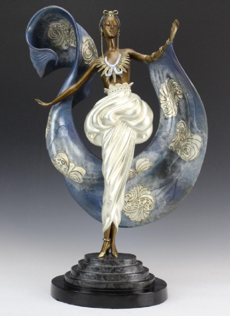 ERTE Dream Girl L/E Art Deco Female Bronze Sculpture
