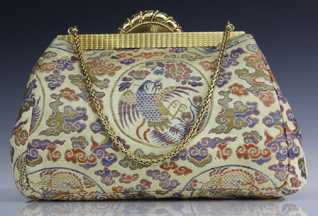 Art Deco Era 18k Gold Diamond CARTIER Bag Handbag Purse