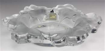 Signed Lalique Capuchines Nasturtia French Crystal Bowl