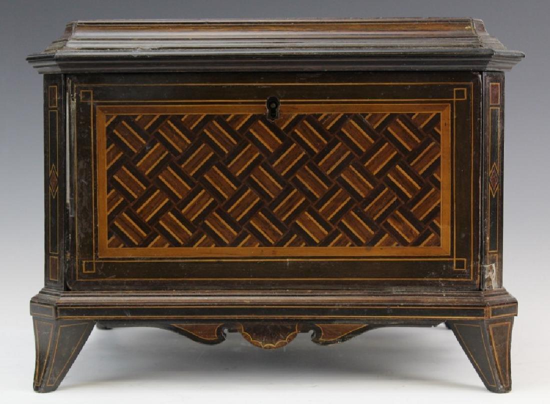 Italian Fine Marquetry Inlaid Wood Jewelry Box