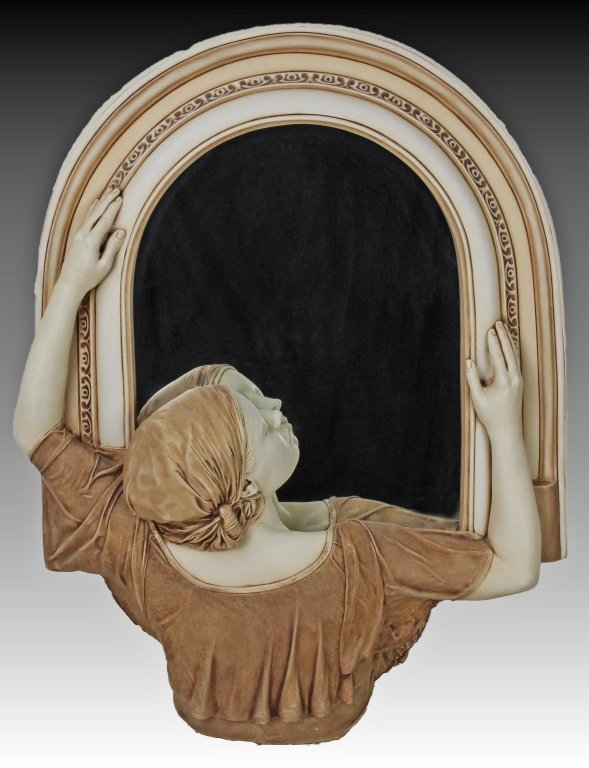 Early Marc Sijan Girl Mirror Realistic Sculpture